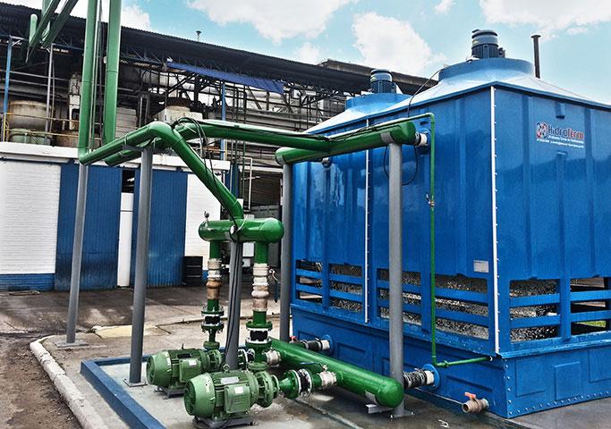 Sistema de água de torre para empresa FCC. Campo Bom/RS.