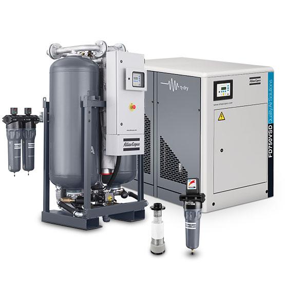Tratamento para gás, ar comprimido e filtração